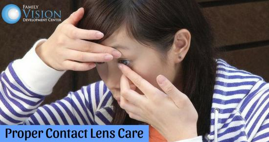 How to Care for Contact Lenses