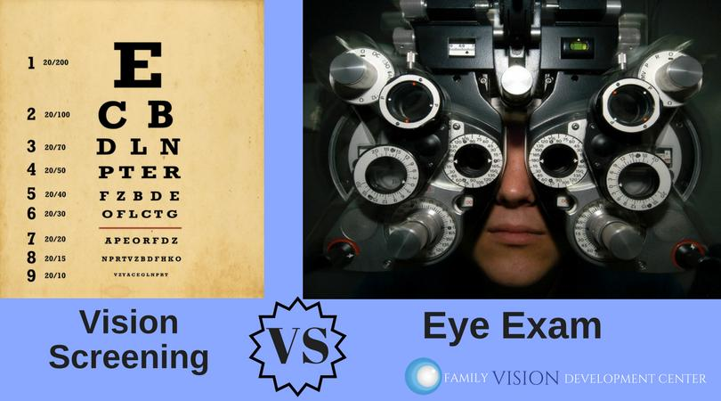 Vision Screenings vs. Eye Exams