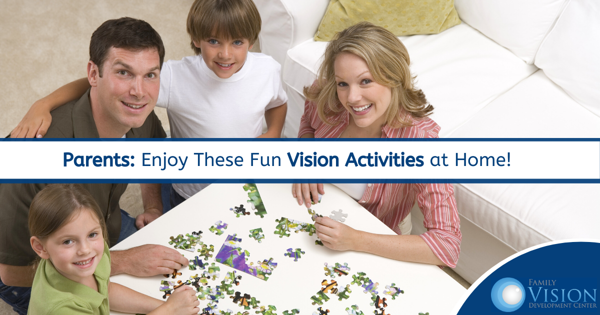 3 Easy Vision Therapy Activities Children Can do at Home